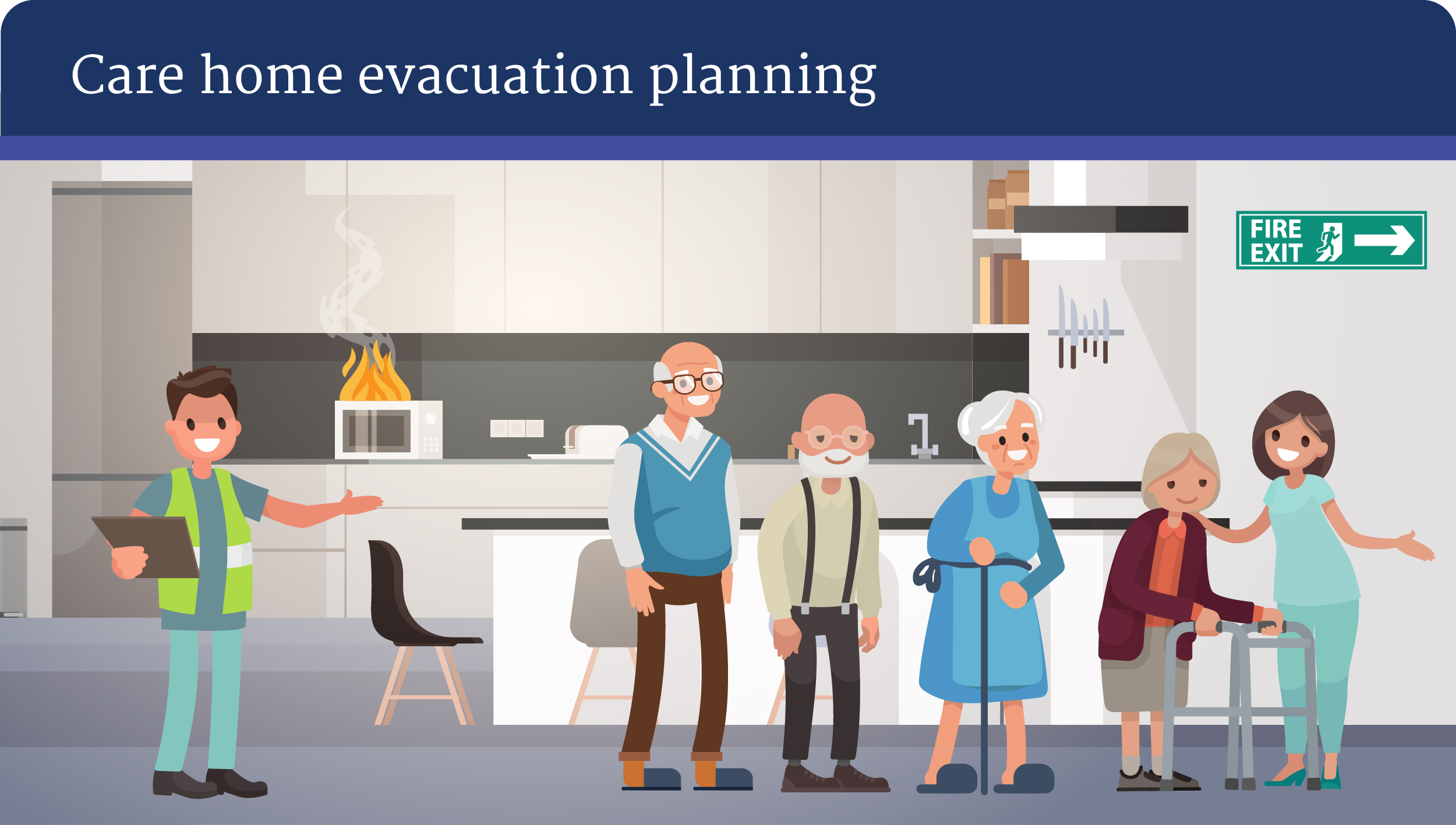 Fire Safety in Care Homes - evacuation planning.